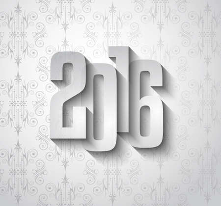 new years eve: 2016 New Year Background for modern seasonal card, flyer templates, greetings card cover and so on