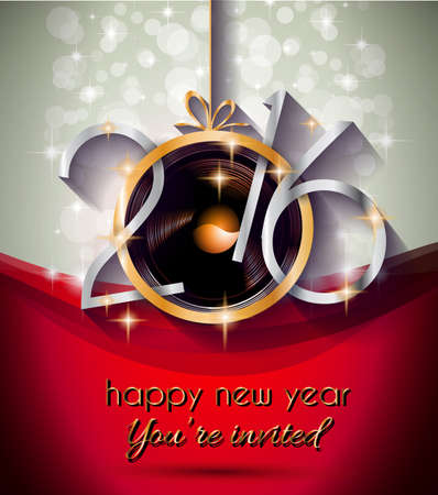 2016 happy new year background for your christmas flyers dinner invitations festive posters