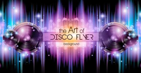 taniec: Disco Club Ulotka szablon dla Twojej wydarzenie muzyczne Nights. Idealny dla muzyki techno, hip hop i house wydajności Plakaty i ulotki dla dyskotek i klubów nocnych. Ilustracja