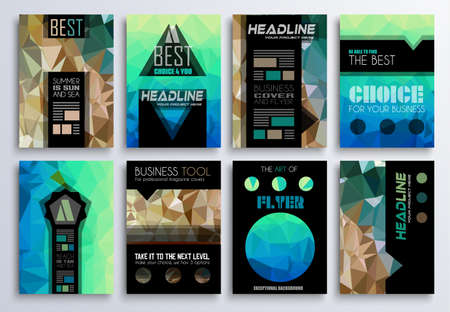 printed material: Set of Brochure, Flyers and layout templates for you projects. Ideal to use for brochures template, book cover, magazine fron page and generic printed material.