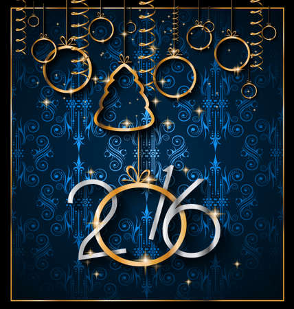 2016 Christmas and Happy New Year Party flyer.