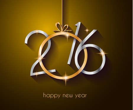 seasons greetings: 2016 Natale e Felice Anno Nuovo Partito volantino. Layout completo con lo spazio per il testo per il tuo invito a cena, feste di natale o volantino partito di vigilia di capodanno. Vettoriali