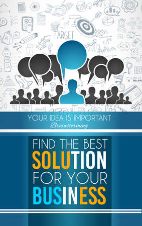 brainstorming: Teamwork Brainstorming communication concept art.