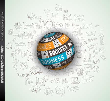 Succes in zakelijke conceptuele achtergrond