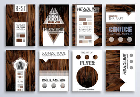 magazine: Brochure template, Flyer Design and Depliant Cover for business presentation and magazine covers.