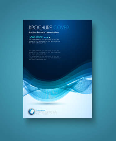 leaflet: Brochure template, Flyer Design and Depliant Cover for business presentation and magazine covers.