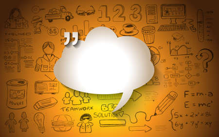 conversations: Cloud Computing concept with infographics sketch set: design elements isolated, vector shapes. It include lots of icons included graphs, stats, devices,laptops, clouds, concepts and so on.