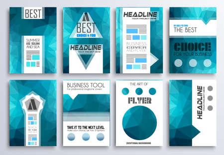 portadas: Modelo del folleto, folleto Diseño y cubierta Depliant para la presentación de negocios y portadas de revistas.