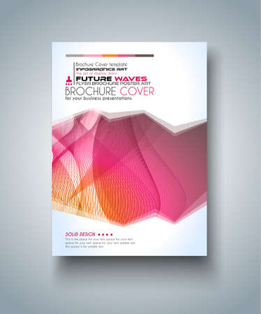 magazine cover: Brochure template, Flyer Design and Depliant Cover for business presentation and magazine covers.