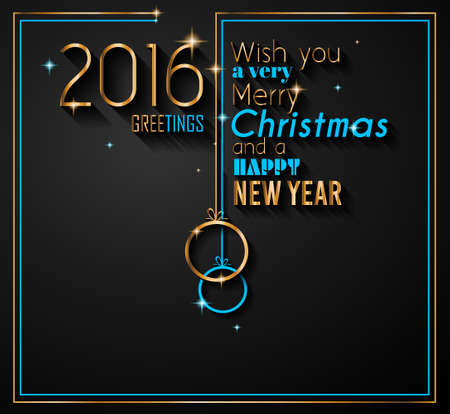 new years eve dinner: 2016 Happy New Year Background for your Flyers and Greetings Card. Ideal to use for parties invitation, Dinner invitation, Christmas Meeting events and so on.