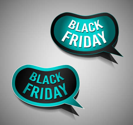promotional: Black Friday Super Sale promotional Stick banners for your flyer, marketing posters, promotional materials and printed flyers