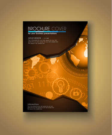 depliant: Brochure template, Flyer Design and Depliant Cover for business presentation and magazine covers.