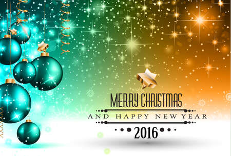 december background: 2016 Happy New Year Background for your Greetings Cards and Flyers. Ideal to use for parties invitation, Dinner invitation, Christmas Meeting events and so on. Illustration