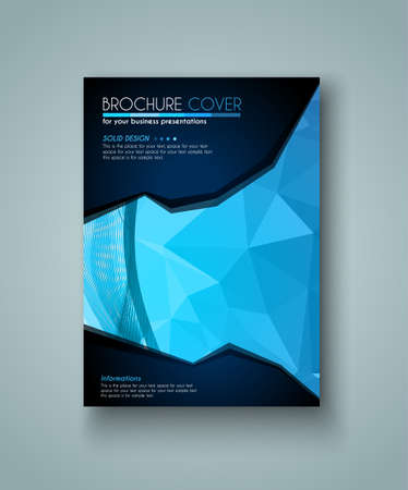 magazine design: Brochure template, Flyer Design and Depliant Cover for business presentation and magazine covers.