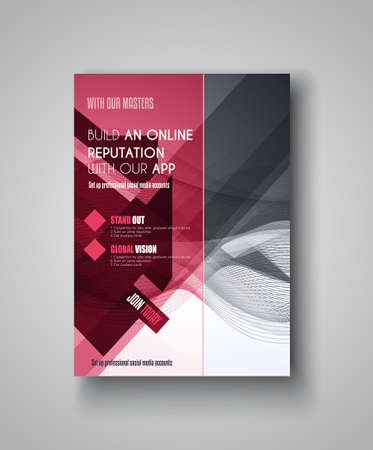 web template: Brochure template, Flyer Design or Depliant Cover for business presentation and magazine covers.