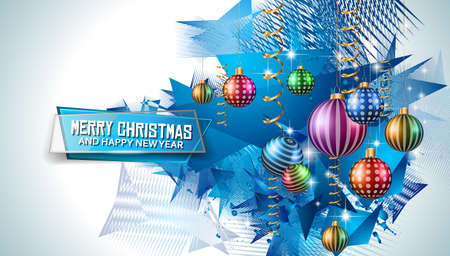 chrstmas: Merry Christmas Seasonal Background for your greeting cards, New Years Flyer, Chrstmas dinner invitation, posters and do on. Illustration