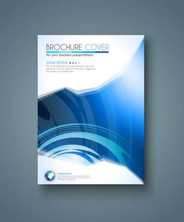 Brochure template, Flyer Design or Depliant Cover for business presentation and magazine covers.