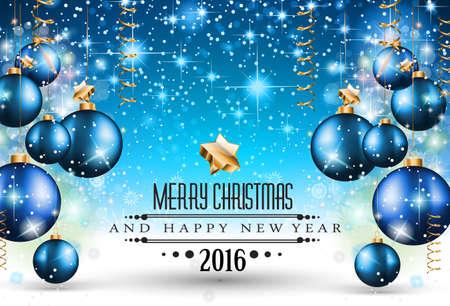 Merry Christmas Seizoensgebonden Achtergrond voor uw wenskaarten, Oud en Nieuw Flyer, uitnodiging Chrstmas diner, posters en te doen op. Stock Illustratie