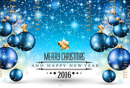 Merry Christmas Seasonal Background for your greeting cards, New Years Flyer, Chrstmas dinner invitation, posters and do on. Illustration
