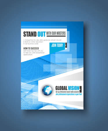 flyer design: Brochure template, Flyer Design or Depliant Cover for business presentation and magazine covers.