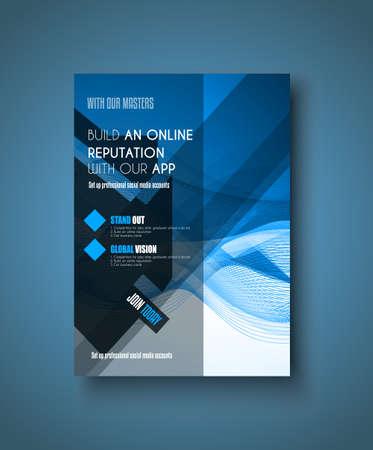 Brochure sjabloon, Folders of Depliant Cover voor zakelijke presentatie en omslagen van tijdschriften.
