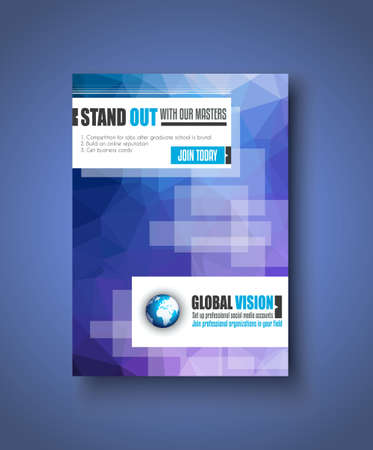 brochure cover design: Brochure template, Flyer Design or Depliant Cover for business presentation and magazine covers.