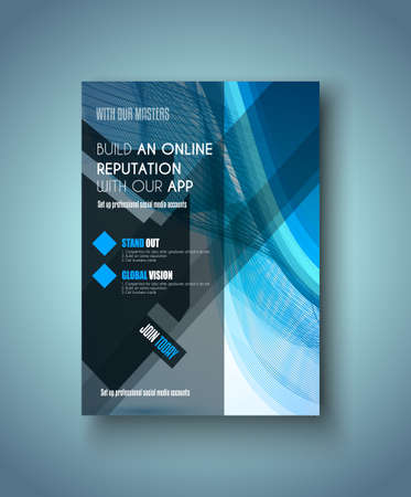 depliant: Brochure template, Flyer Design or Depliant Cover for business presentation and magazine covers.