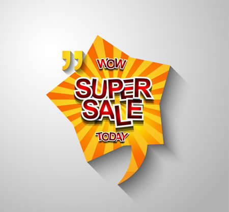 stock art: Super Sale Today background for your promotional posters, advertising shopping flyers, discount banners, clearence sales event, seasonal promotions and so on.