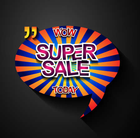 sales event: Super Sale Today background for your promotional posters, advertising shopping flyers, discount banners, clearence sales event, seasonal promotions and so on.