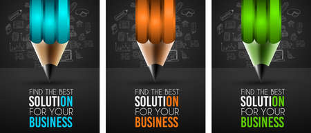 book background: Business Success Concept with Doodle design style :teaching solution, studies, creative ideas. Modern style illustration for web banners, brochure and flyers. Illustration