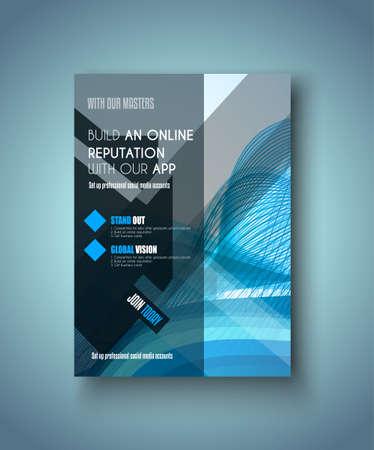 portadas de libros: Modelo del folleto, folleto o diseño de la cubierta Depliant para los folletos de negocios, presentación y portadas de revistas.