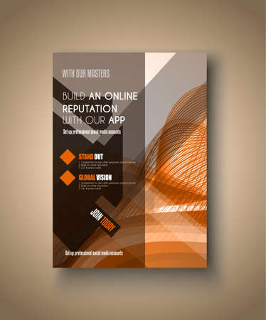 Brochure template, Flyer Design or Depliant Cover for business Brochures, presentation and magazine covers.
