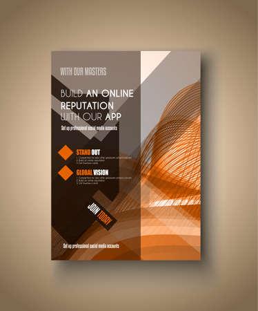 brochure: Modelo del folleto, folleto o diseño de la cubierta Depliant para los folletos de negocios, presentación y portadas de revistas.