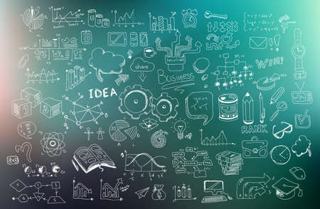 creative: Business Development concept background wih Doodle design style :finding solution, brainstorming, creative thinking, infographics. Modern style illustration for web banners, brochure and flyers.