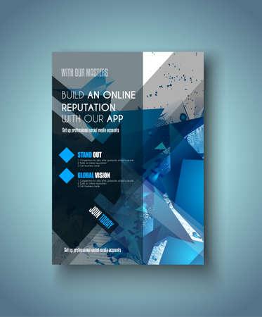 portadas: Modelo del folleto, folleto o diseño de la cubierta Depliant para los folletos de negocios, presentación y portadas de revistas.