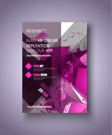 depliant: Brochure template, Flyer Design or Depliant Cover for business Brochures, presentation and magazine covers.