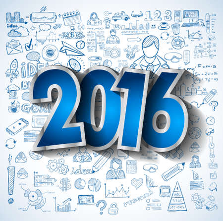 crecimiento: 2016 Negocios conceptual creativo negocio dibujo estrategia de �xito las ideas del plan de concepto, infograf�as, isnpiration, dise�o moderno plantilla de dise�o, diagrama, opciones de paso y soluciones empresariales