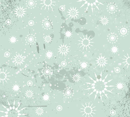 seasonal greeting: Christmas Vintage Background with drops, snowflakes and snowballs for your seasonal greeting cards.