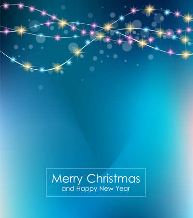 background design: Christmas Lights Background for your seasonal wallpapers, Happy New Year Backgrounds, greetings card, dinner invitations, party flyers, covers and so on. Illustration
