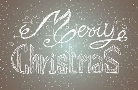 chrstmas: Merry Christmas Vintage Lettering Background for your greeting cards, New Years Flyer, Chrstmas dinner invitation, posters and do on. Illustration