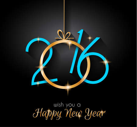greeting cards: 2016 Happy New Year and Merry Christmas Background for your seasonal wallpapers, greetings card, dinner invitations, pary flyers, covers and so on. Illustration
