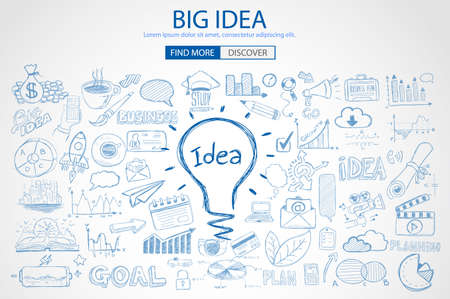 big idea: idea, big, vector