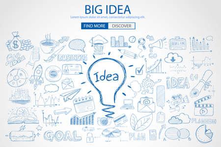 inspiracion: idea, grande, vector