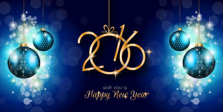 new years eve dinner: 2016 Merry Christmas and Happy New Year Background for Seasonal Greetings Cards, Parties Flyer, Dineer Event Invitations, Xmas Cards and sp on. Illustration