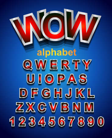 school boys: Festive Alphapet Font to use for childrens parties invitations, school event posters, funny games descriptions, litttle boys brochure and so on! Illustration