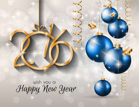 event party: 2016 Merry Christmas and Happy New Year Background for Seasonal Greetings Cards, Parties Flyer, Dineer Event Invitations, Xmas Cards and sp on. Illustration
