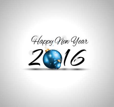 happy new year: 2016 Frohe Weihnachten und Happy New Year Hintergrund zur saisonalen Grußkarten, Partys Flyer, Dineer Ereignis-Einladungen, Weihnachtskarten und SP auf.