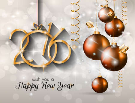 new years eve dinner: 2016 Happy New Year and Merry Christmas Background for Seasonal Greetings Cards, Parties Flyer, Dinner Event Invitations, Xmas Cards and so on.