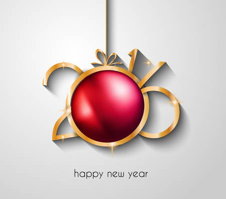 new years eve dinner: 2016 Happy New Year and Merry Christmas Background for Seasonal Greetings Cards, Parties Flyer, Dinner Event Invitations, Xmas Cards and sp on.