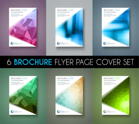 depliant: Set of 6 Brochure template, Flyer Design and Depliant Cover for business presentation and magazine covers.